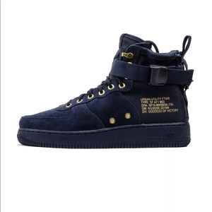 Nike SF AIR FORCE 1Mid Navy blue suede 917753-400
